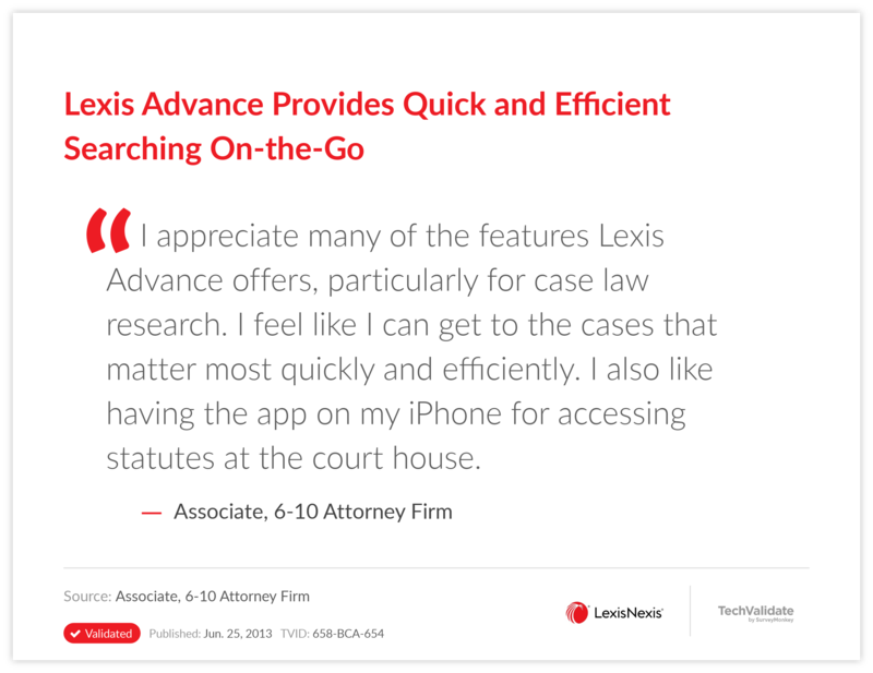 Lexis Advance Provides Quick and Efficient Searching On-the-Go