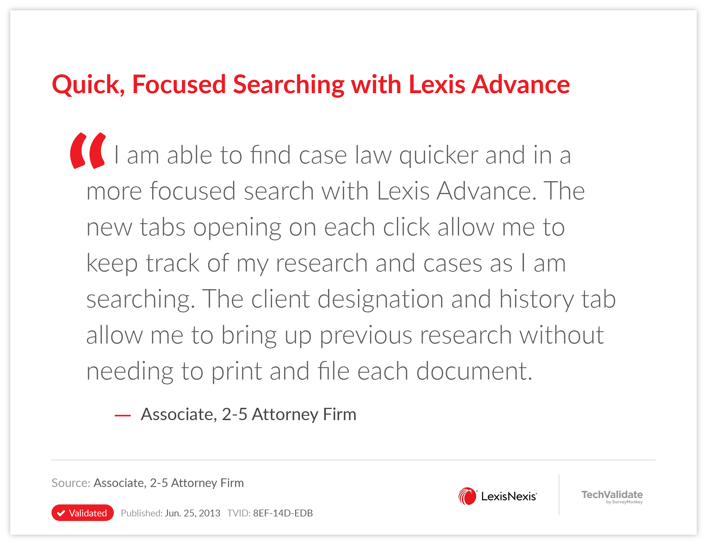 Quick, Focused Searching with Lexis Advance