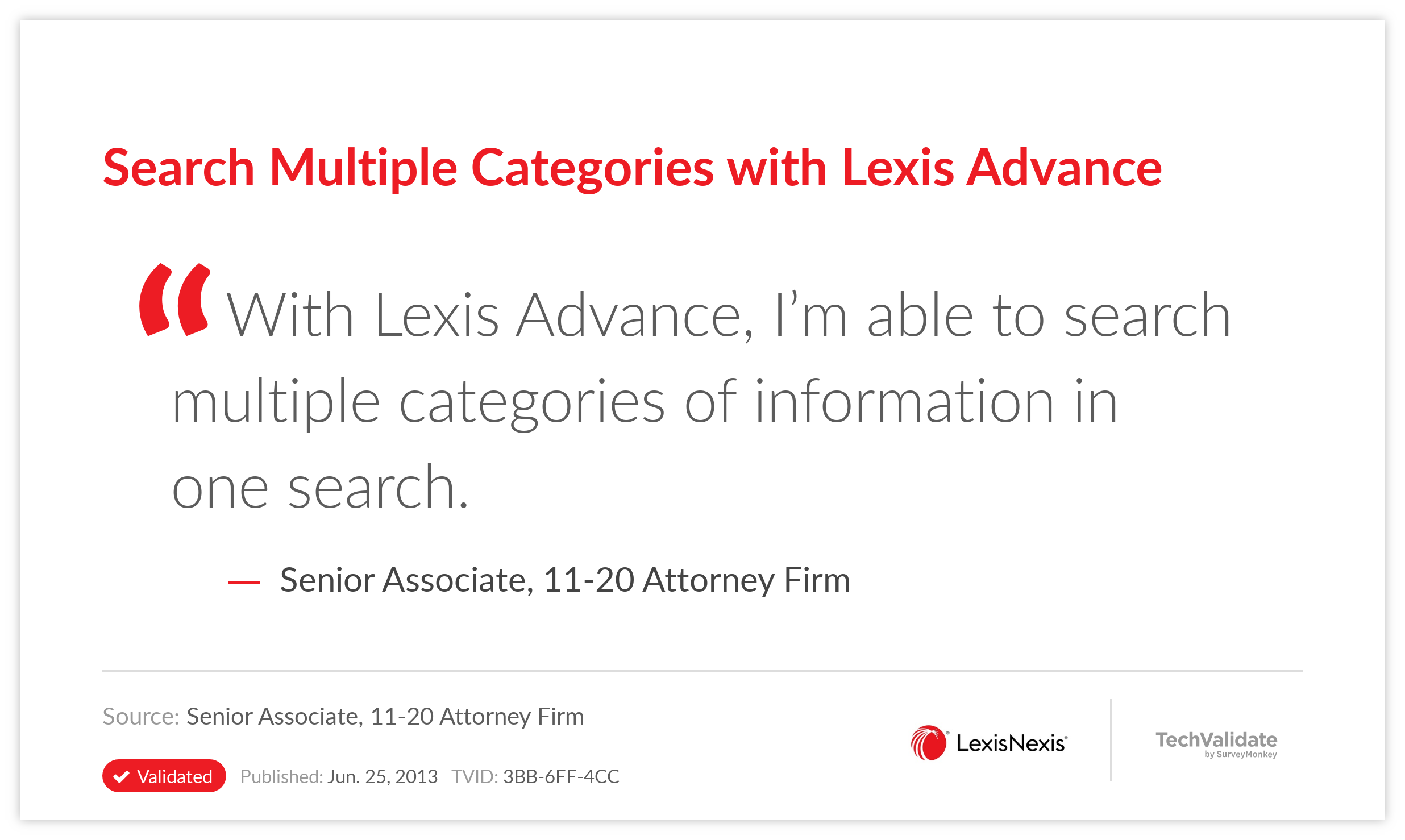 Search Multiple Categories with Lexis Advance