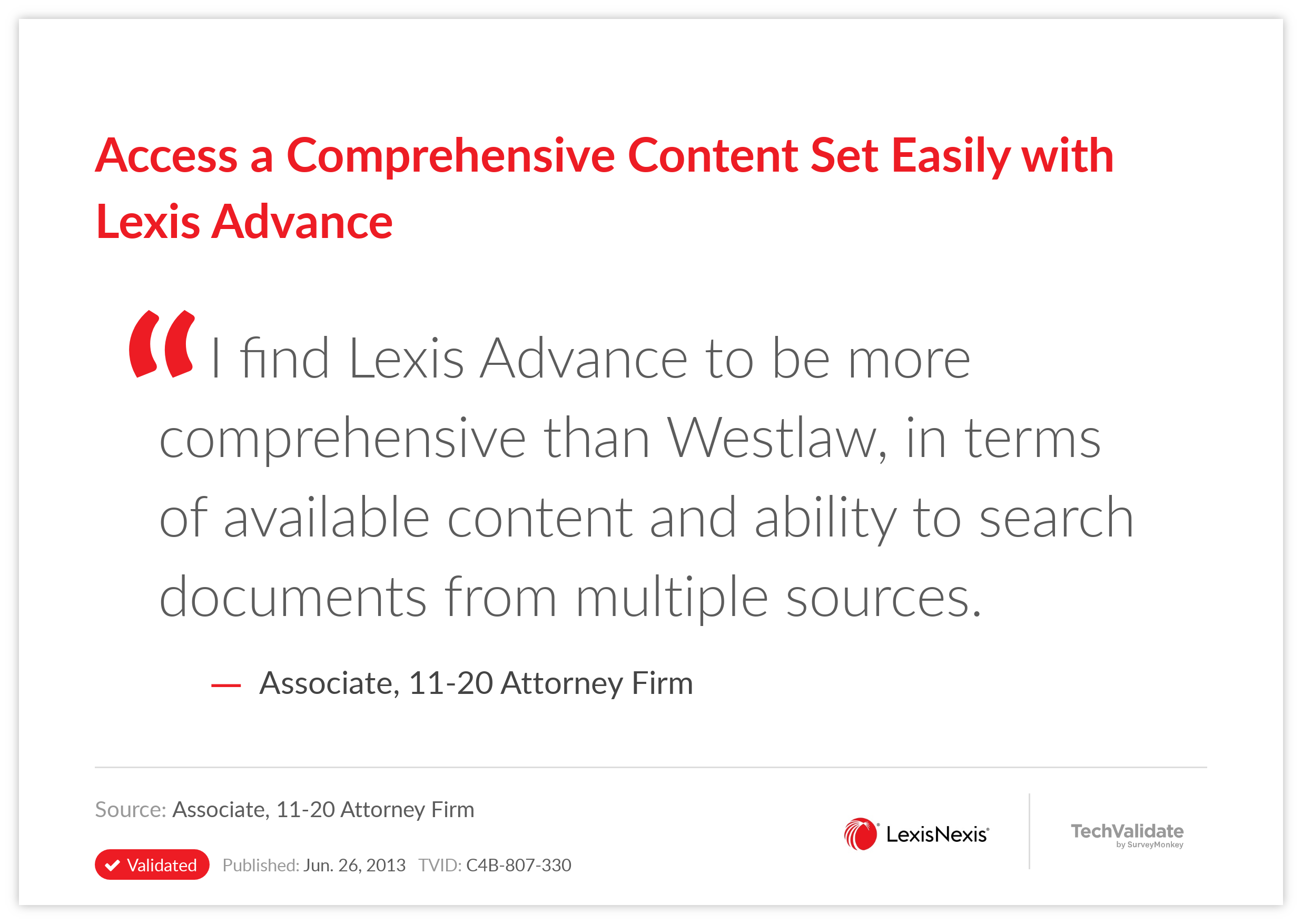 Access a Comprehensive Content Set Easily with Lexis Advance