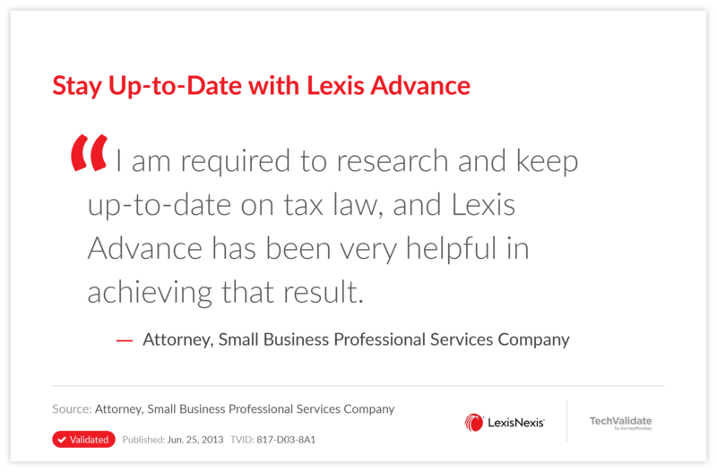 Stay Up-to-Date with Lexis Advance