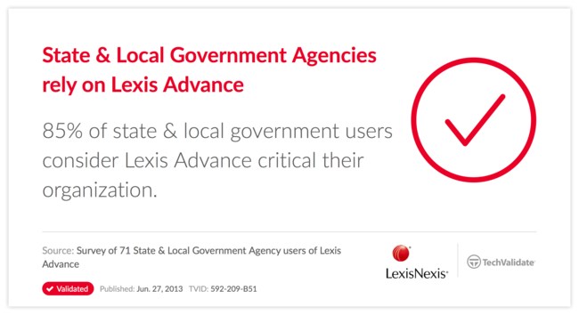 State & Local Government Agencies rely on Lexis Advance