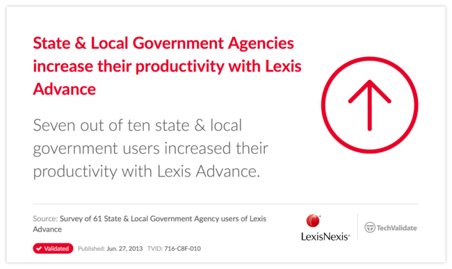 State & Local Government Agencies increase their productivity with Lexis Advance