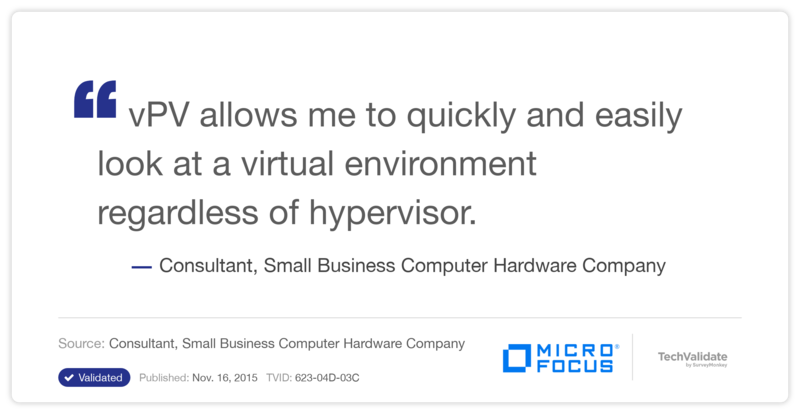 HP Virtualization Performance Viewer (vPV) Customer Testimonial