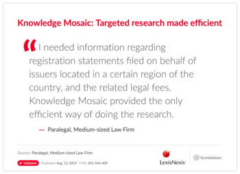 Knowledge Mosaic: Targeted research made efficient