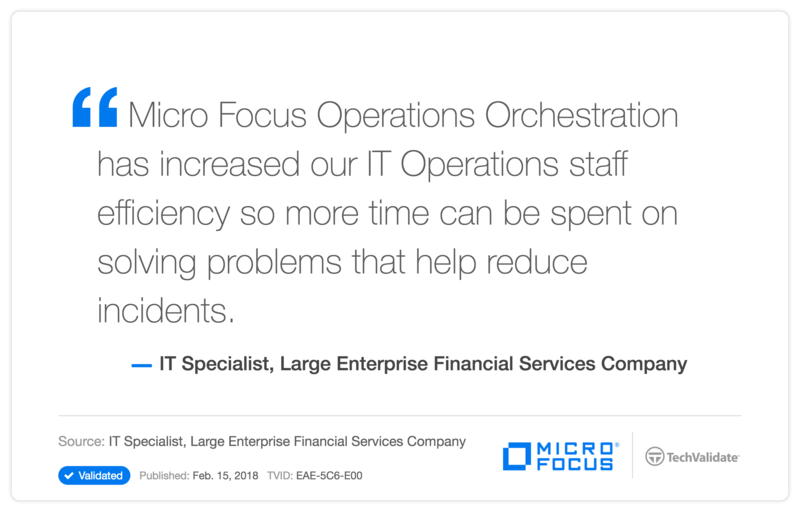 HP Operations Orchestration Software Customer Testimonial