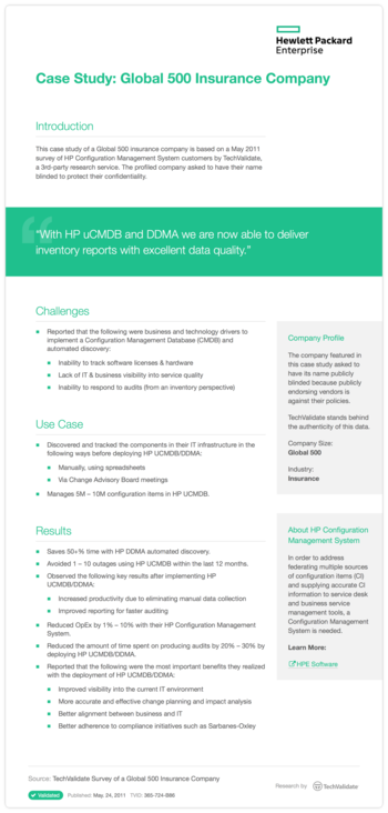 Case Study: Global 500 Insurance Company