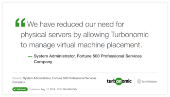 VMTurbo Customer Testimonial