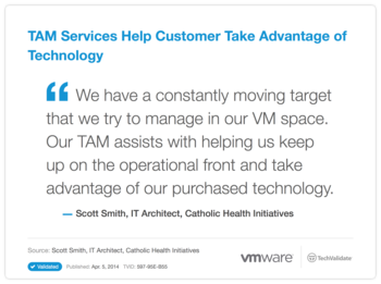 TAM Services Help Customer Take Advantage of Technology