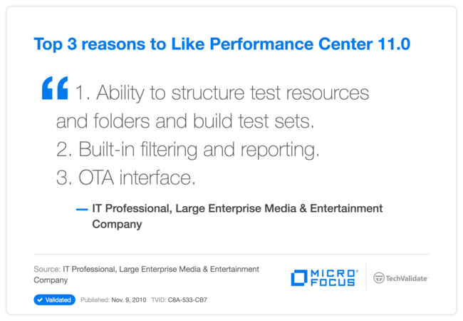 Top 3 reasons to Like Performance Center 11.0