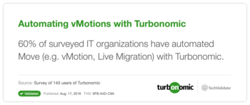 Automating vMotions with VMTurbo