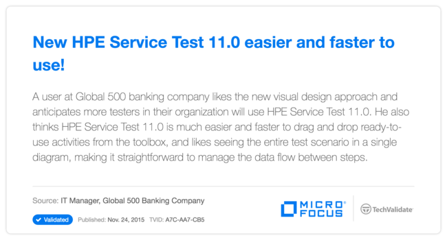 New HP Service Test 11.0 easier and faster to use!
