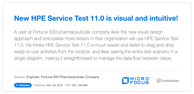 New HP Service Test 11.0 is visual and intuitive!