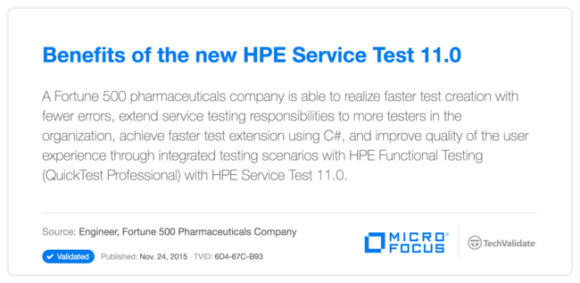 Benefits of the new HP Service Test 11.0