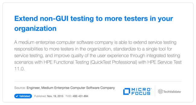 Extend non-GUI testing to more testers in your organization