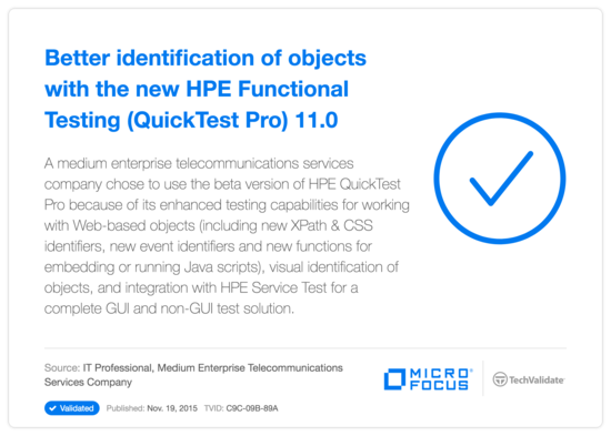 Better identification of objects with the new HP Functional Testing (QuickTest Pro) 11.0