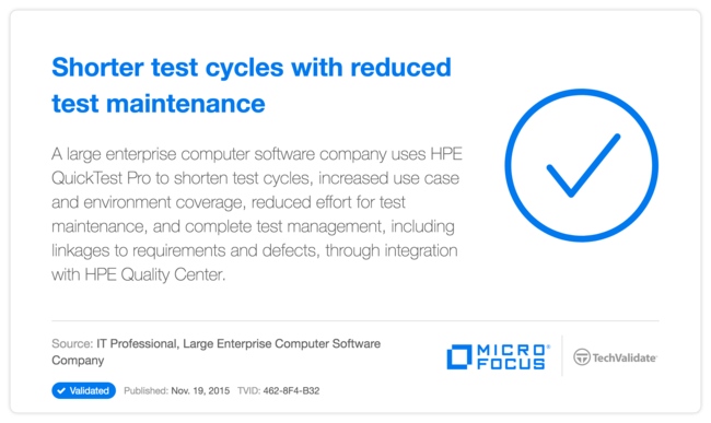 Shorter test cycles with reduced test maintenance