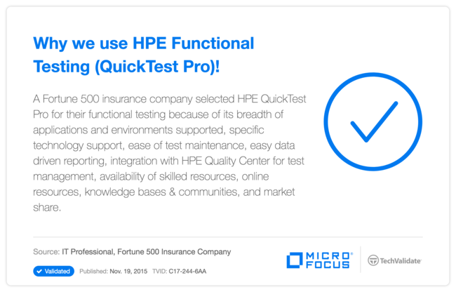 Why we use HP Functional Testing (QuickTest Pro)!