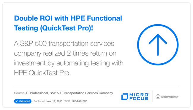 Double ROI with HP Functional Testing (QuickTest Pro)!