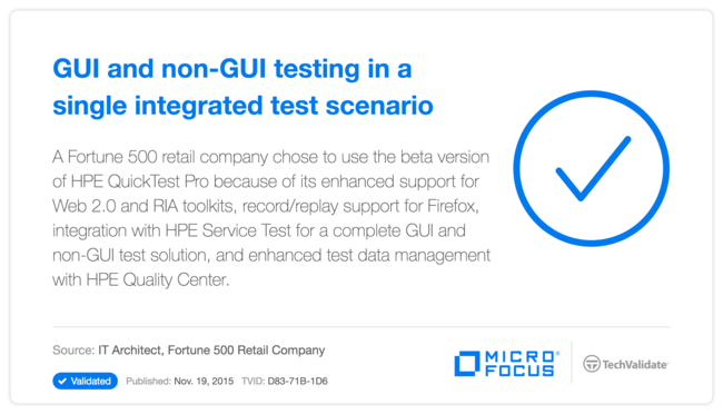 GUI and non-GUI testing in a single integrated test scenario
