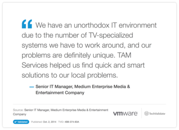 VMware TAM Services Customer Testimonial