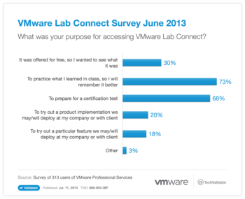 VMware Lab Connect Survey June 2013