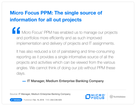 HP PPM: The sIngle source of information for all out projects