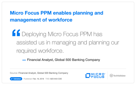 HP PPM enables planning and management of workforce