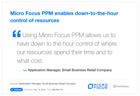 HP PPM enables down-to-the-hour control of resources