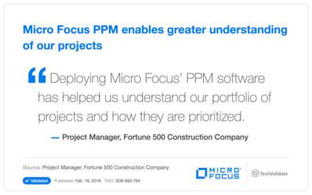 HP PPM enables greater understanding of our projects