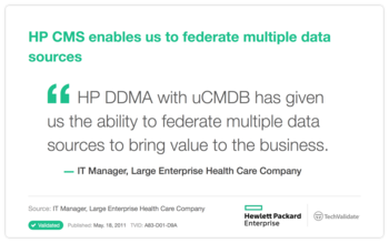 HP CMS enables us to federate multiple data sources