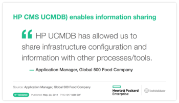 HP CMS UCMDB) enables information sharing