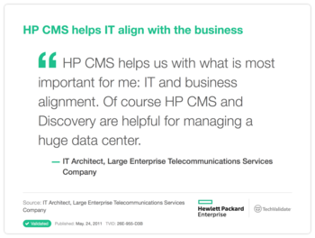 HP CMS helps IT align with the business