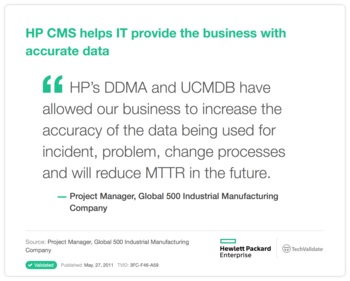 HP CMS helps IT provide the business with accurate data