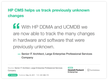 HP CMS helps us track previously unknown changes