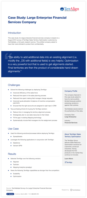 Case Study: Large Enterprise Financial Services Company