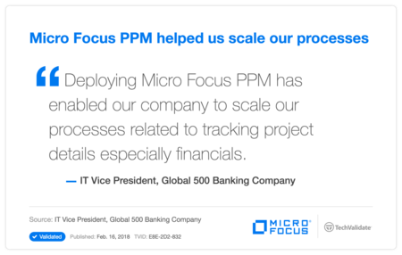 HP PPM helped us scale our processes