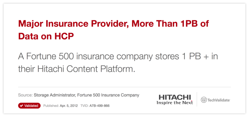 Major Insurance Provider, More Than 1PB of Data on HCP