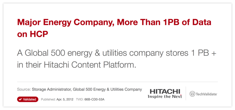 Major Energy Company, More Than 1PB of Data on HCP