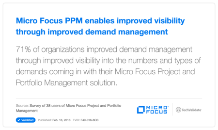 HP PPM enables improved visibility through improved demand management