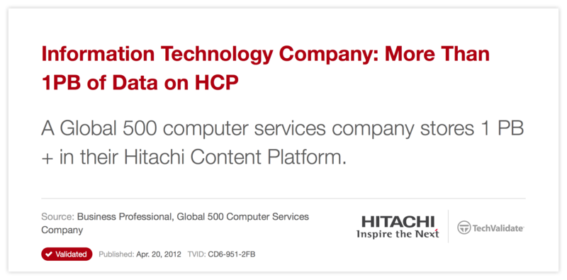 Information Technology Company: More Than 1PB of Data on HCP
