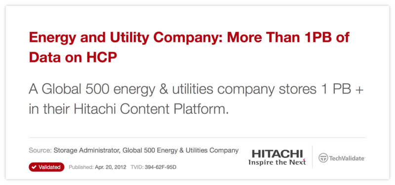 Energy and Utility Company: More Than 1PB of Data on HCP