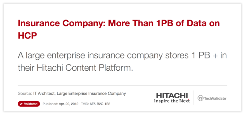Insurance Company: More Than 1PB of Data on HCP