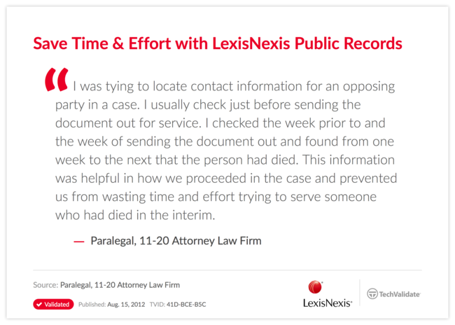 Save Time & Effort with LexisNexis Public Records
