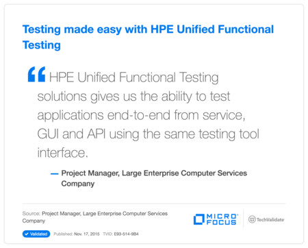 Testing made easy with HP Unified Functional Testing