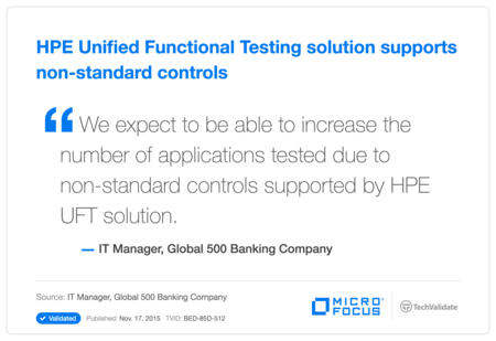 HP Unified Functional Testing solution supports non-standard controls