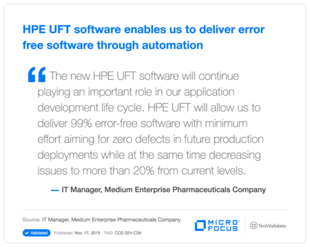 HP UFT software enables us to deliver error free software through automation