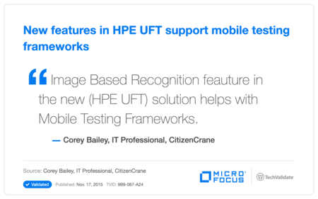 New features in HP UFT support  mobile testing frameworks