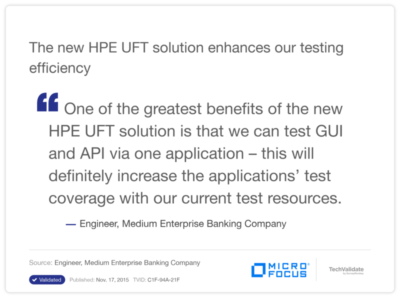 The new HP UFT solution enhances our testing efficiency