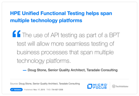 HP Unified Functional Testing helps span multiple technology platforms
